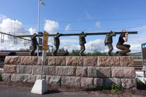 Unterhaltungsprogramm am Bahnhof Kiruna