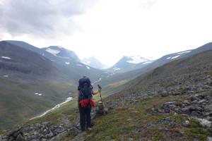 Abstieg ins Kaskasvagge