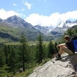 Auf dem Weg zum Klettergarten