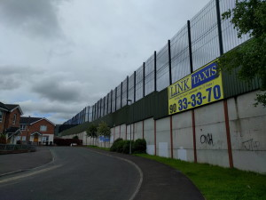 Peace Walls eignen sich auch für Werbung