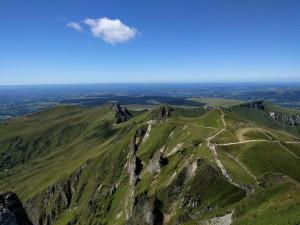 Auf dem Puy de Sancy zusammen mit halb Frankreich