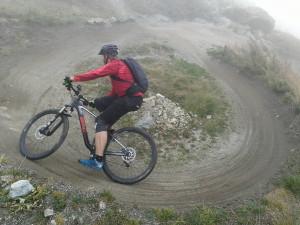 360 Grad Kurve auf dem WM Trail
