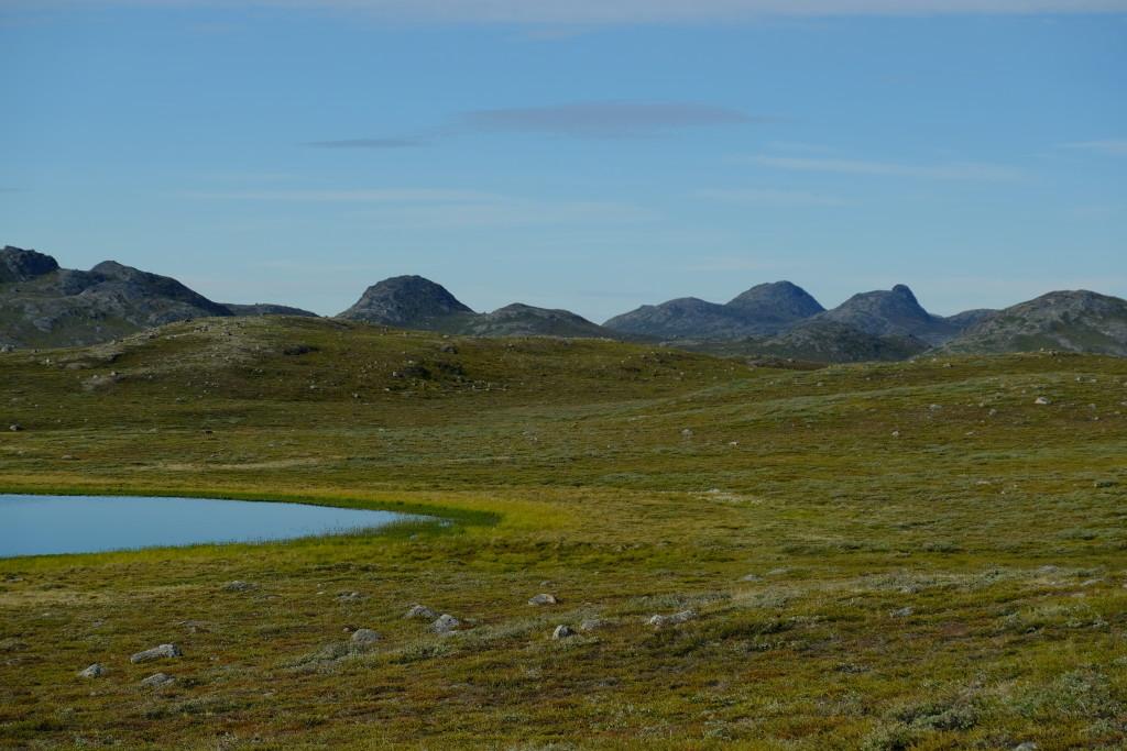 Von Gletschern geformte Berge