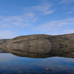 Perfekte Spiegelung der Landschaft