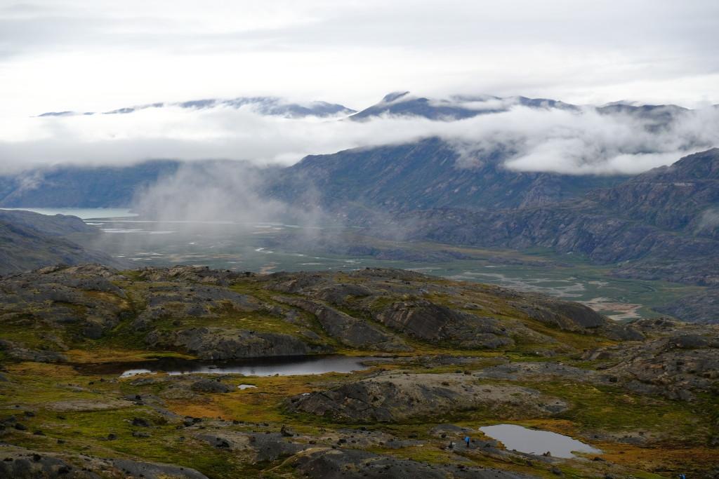 Aussicht beim Abstieg über Itinneq - Ole's Lakseelv