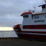 Die MS Sarfaq Ittuk im Hafen von Sisimiut