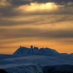 Sonnenuntergang im Eismeer