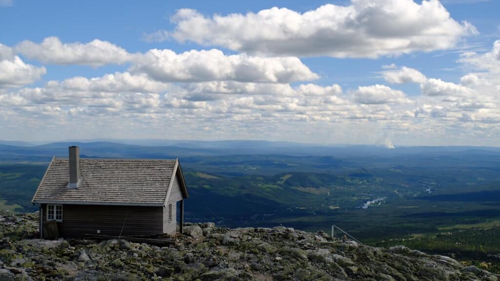 Hütte auf dem Trysilfjellet.