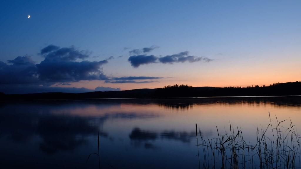 Mitternachtssonne in Südschweden.